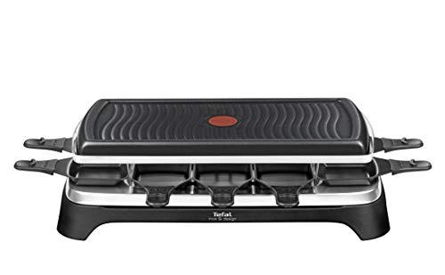 Tefal Gourmet 10 Inox & Design RE458812 - 2 in 1 gourmetstel en grill - Geschikt voor 10 personen, incl. 10 pannen met antiaanbaklaag