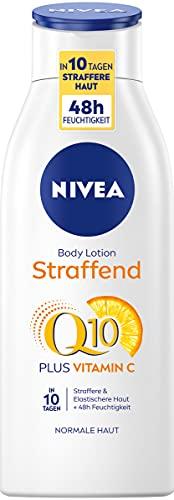 Nivea Q10 Huidverstevigende bodylotion + vitamine C, lichaamslotion voor een strakkere huid en verbeterde elasticiteit in 10 dagen, per stuk verpakt (1 x 400 ml)