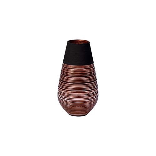 Villeroy & Boch Manufacture Swirl grote soliflor-vaas, 18 cm, kristalglas, brons, zwart