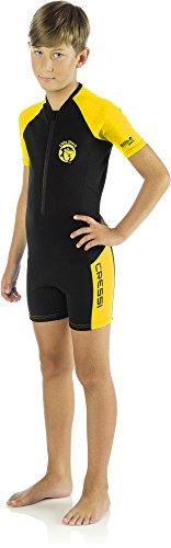 Cressi Little Shark Shorty Wetsuit - Neoprene Wetsuit for kids, 5/6 Years, zwart-geel