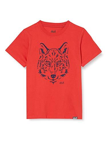Jack Wolfskin, Brand T, T-Shirt, Piekrood, 116, Unisex-Kind