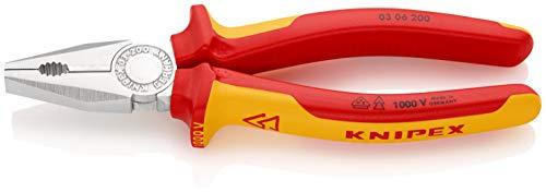 KNIPEX Kombitang 1000V-geïsoleerd (200 mm) 03 06 200