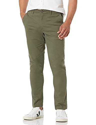 Amazon Essentials Skinny-Fit Broken-in Chino Pant Olijf, 31W x 28L