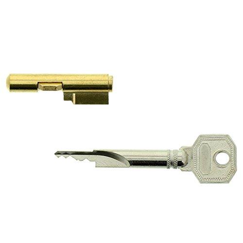 Burg-Wächter sleutelgatvergrendeling voor insteeksloten, kamerdeurbeveiliging, cilinderdiameter: 7 mm, incl. 3 sleutels, E 7/3 SB, 04482