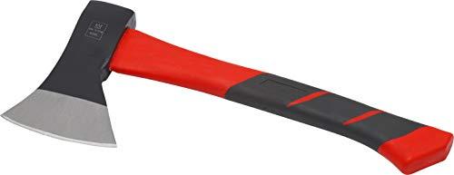 Meister Bijl 600 g - trillingsarme steel van glasvezel - compacte vorm - rubberen greep einde - voor nauwkeurige bewerking van hout/handbijl met snijbescherming/kloofbijl/campingbijl / 2150200