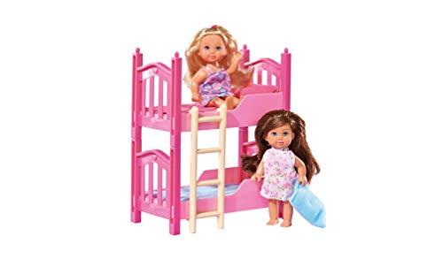 Simba 105733847 - Evi Love Stapelbed, meerkleurig, 12 cm, voor kinderen vanaf 3 jaar
