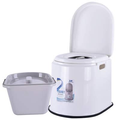 GODLOVEWORLD Camping toilet draagbare, afneembare caravan toiletten urinoir chemicaliën eenvoudige kunststof toiletstoel voor volwassenen en zwangere vrouwen