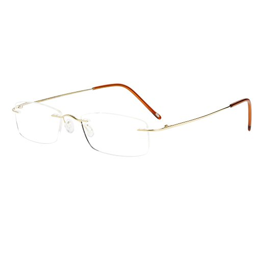 LianSan Titanium frameloze Lezen Bril Mannen Lichtgewicht Mode Rimless Lezers Bril Womens 8085