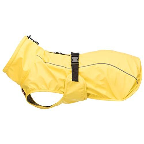 Trixie Vimy regenjas voor honden, 35 cm, maat S, geel