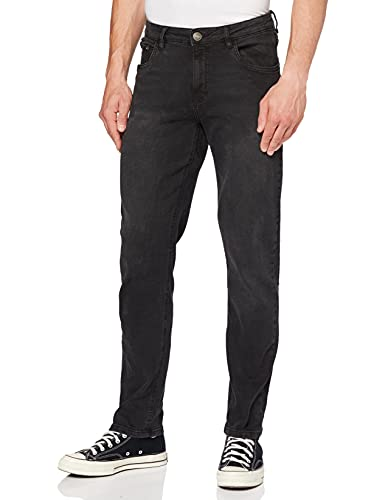 Urban Classics TB1437 Stretch jeansbroek voor heren, zwart (Black Washed 709), 32W x 32L