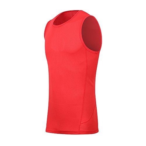H.MILES Tanktop voor heren, mouwloos T-shirt, wielrennen, hardlopen, loopshirt, functioneel ondergoed, sneldrogend, mouwloos shirt