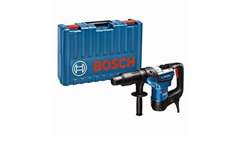 Bosch 0611269001 Professional boorhamer GBH 5-40 D (SDS Max, incl. extra handgreep, vettube, machinedoek, in koffer), Blauw