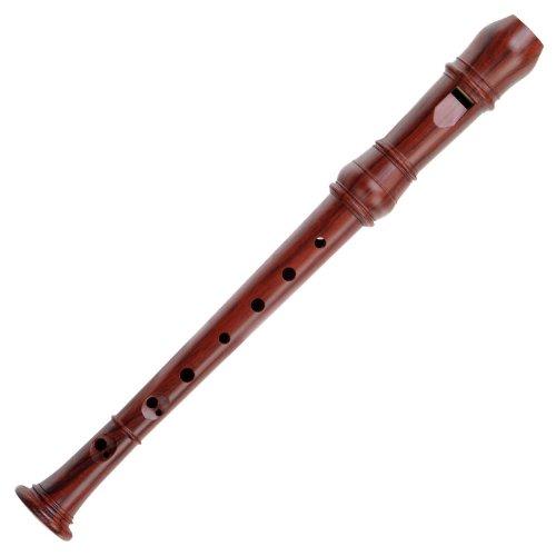 Classic Cantabile Bellissima F-Sopranino sopraanino-blokfluit (stemming: F-sopranino, houtlook, toonomtrek: f2 - g4, barokke greepwijze, 3-delige constructie, hoogwaardige afwerking, incl. tas)