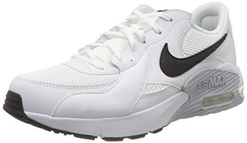 Nike Air Max Ivo Hardloopschoenen voor heren, White Black Pure Platinum, 44.5 EU