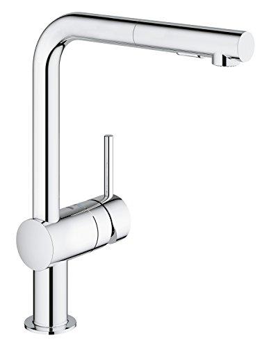 GROHE Minta 30274000 Keukenkraan, eenhandsmengkraan, met zwenkbereik 360°, eengatmontage, chroom