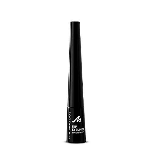Manhattan Dip eyeliner waterproof, zwarte eyeliner met speciale applicator voor de ideale Cat Eye wing, kleur zwart 1010N, 1 x 9,07g