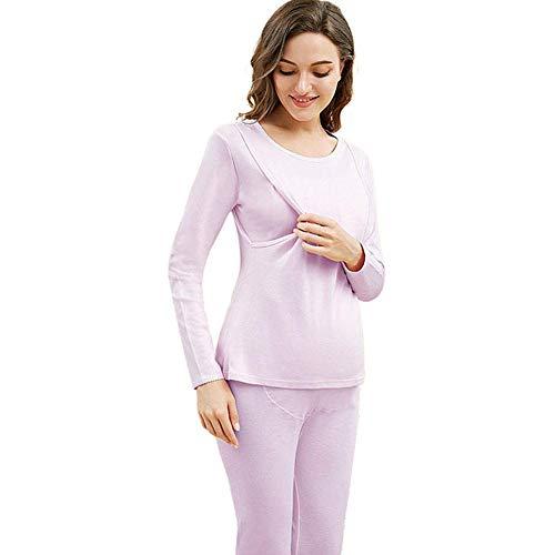 Pyjama's voor borstvoeding, puur katoen, horizontaal/verticaal, arbeidspyjama voor zwangere vrouwen, ziekenhuisnachtkleding, zwangerschapsnachtkleding