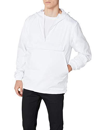 Urban Classics Windbreaker Basic Pull-Over Jacket, voor heren, lichtgewicht streetwear slipjas, overtrekjas voor lente en herfst
