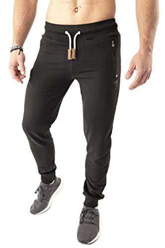 Mount Swiss Finn Lange vrijetijdsbroek voor heren, sweatpants met zakken, loopbroek met zijzak + achterzak met ritssluiting, in klassieke kleuren, maat S - 6XL