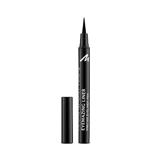 Manhattan Eyemazing Liner – zwarte vilten eyeliner voor perfect aanbrengen – kleur Black Lacque 1010N – 1 x 1,2 ml