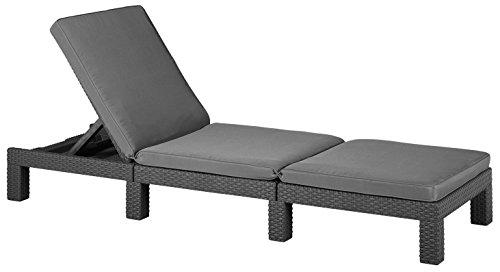 Allibert Ligstoelen Zonneligstoel. 65x195x22 cm grafiet/cool grey