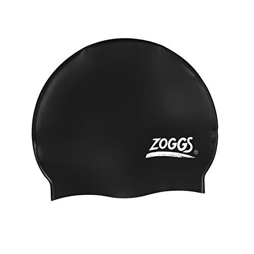 Zoggs Badmuts siliconen cap, zwart, één maat