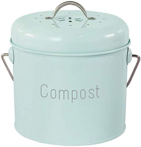 Compostbak Keukentafel Compost Verzamelen Container Keuken, Antieke Crème Kleur, voor Voedsel/Fruit/Noten Afval Recycling,