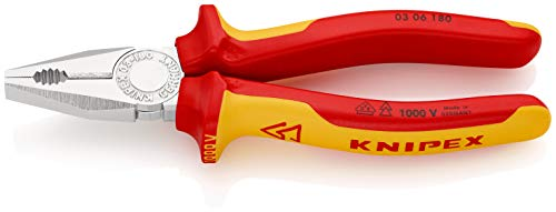 KNIPEX Kombitang 1000V-geïsoleerd (180 mm) 03 06 180