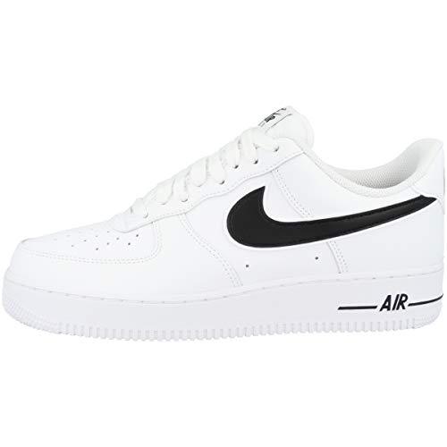 Nike Air Force 1 '07 3 Basketbalschoenen voor heren, wit (wit/zwart 101), 38,5 EU