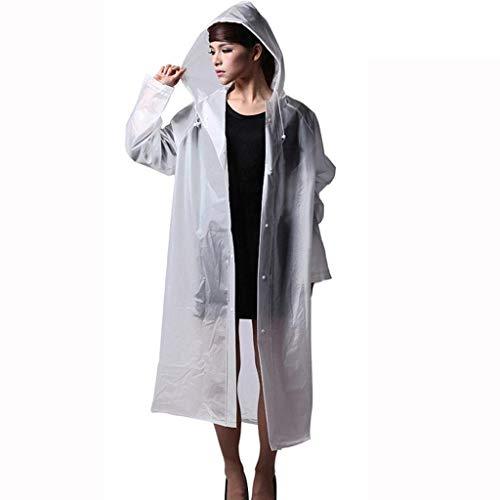HaiDean regenjas voor volwassenen, Eva, transparant, modieus, milieuvriendelijke jongens, chic, outdoor, regenjas