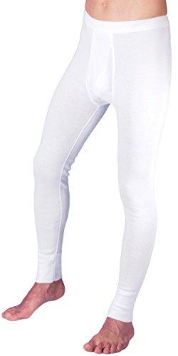HERMKO 3540 Lange onderbroek voor heren, set van 2 stuks, lange onderbroeken (andere kleuren) van biologisch katoen