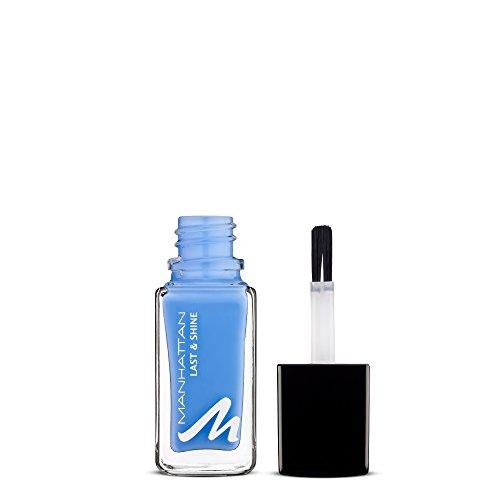 Manhattan Last & Shine Nagellak, lichtblauwe, glanzende nagellak, voor 10 dagen perfecte grip, kleur Feelin'Fly 855, 1 x 10 ml