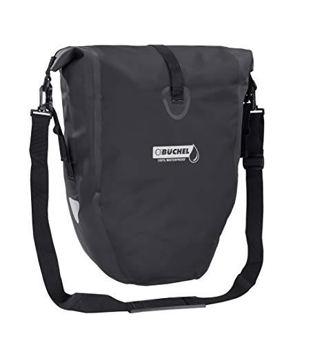 Büchel Fietstas voor bagagedrager, 100% waterdicht, verschillende kleuren, met schouderriem en binnenvak