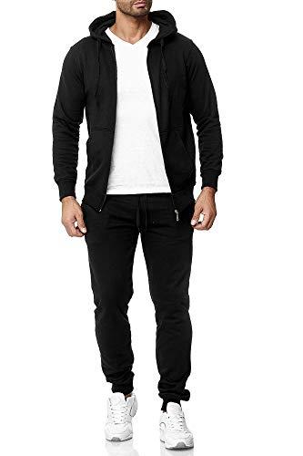 Subliminal Mode Trainingspak set sweatshirt, met capuchon, basic + joggen, casual, effen, SB501, zwart, XXL