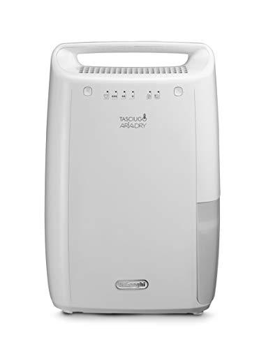 De'Longhi DEX210 AriaDry Luchtontvochtiger voor thuis, 267 W, 10 liter, 37 decibel, kunststof, wit