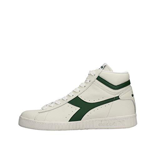 Diadora Game L High Waxed Hoge sneakers voor heren, C1161 witte bladeren, 44 EU