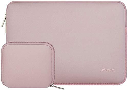 MOSISO Laptop Hoes Compatibel met 13-13.3 inch MacBook Pro, MacBook Air, Notebook Computer,Waterafstotende Neopreen Aktetas met Kleine Tas,Baby Roze