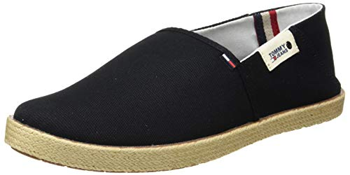 Tommy Jeans Heren Summer Shoe mocassin, Zwarte black bds, 44 EU