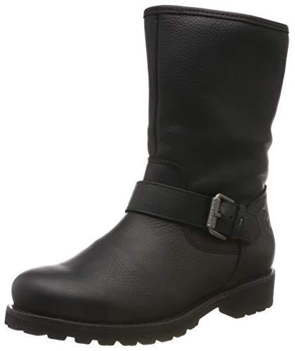 Panama Jack Singapur Igloo Biker Boots voor dames, Zwart Negro B25, 37 EU