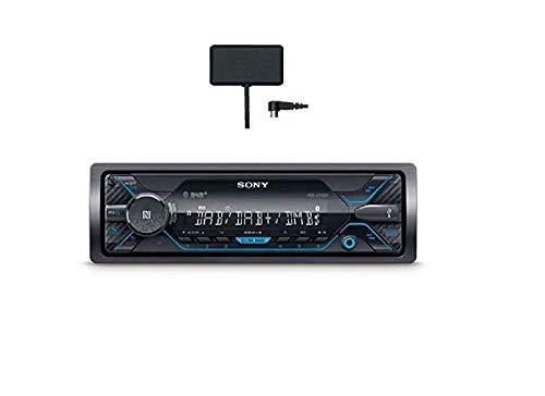 Sony DSX-A510KIT DAB+ Autoradio met Antenne, Dual Bluetooth, NFC, USB en Aux-Aansluiting, Blauwe Verlichting, Handsfree Bellen, Zwart