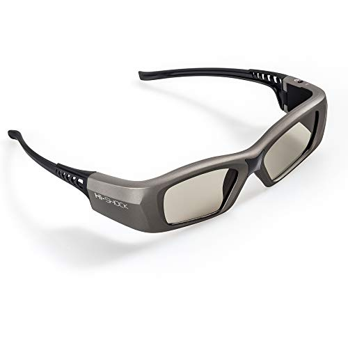 Hi-SHOCK BT/RF Pro Oxid Diamond | Bluetooth 3D bril voor 3DTV / HDR & 3D-RF Beamer van Sony, Epson, Jvc, Samsung, Panasonic [Shutterbril | 120 Hz | oplaadbaar | 39g | Radio]