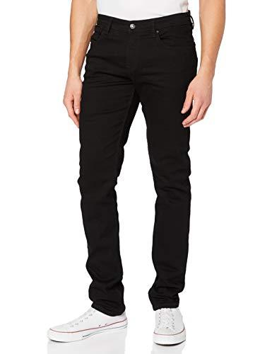 TOM TAILOR Denim Piers Slim Jeans voor heren, 10240 - Black Denim, 31W x 32L