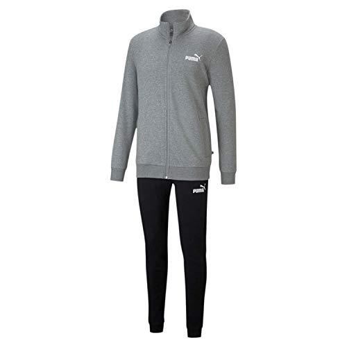 PUMA Heren trainingspak Clean Sweat Suit TR 585840, medium gray heather, M