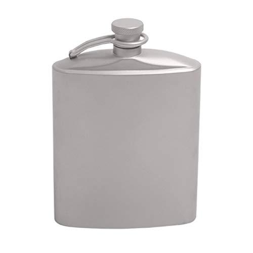 Sharplace Uniseks heupfles van titanium, zakfles voor camping, picknick, draagbaar