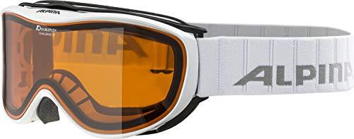 ALPINA CHALLENGE 2.0 Skibril, uniseks, volwassenen, wit, één maat