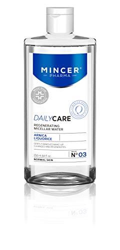 Mincer Pharma Daily Care Regenererend micellair water voor normale huid met arnica en zoethout, 250 ml