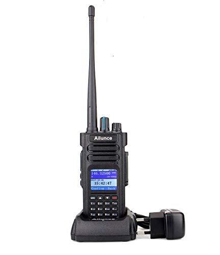 Ailunce HD1 DMR Walkie Talkie GPS 3000 kanalen IP67 Waterdicht DTMF Dubbele Band Walkie Talkie Digitale Compatibel met MOTOTRBO TierI& II ( Zwart )