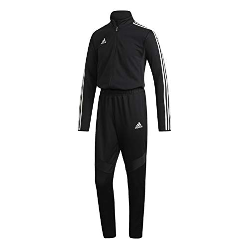 adidas Heren Sportoutfit TIRO19 OVERALL, Negro/Graniet/Blanco, M, D95926