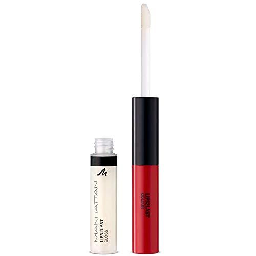 Manhattan Lips2Last Colour&Gloss, lippenkleur en lipgloss in één, kleur Glam Red 45A, 1 x 8ml