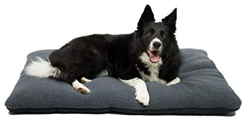 ZOLLNER hondenbed, hondenkussen 67x90 cm, wasbaar, grijs, antislipnoppen